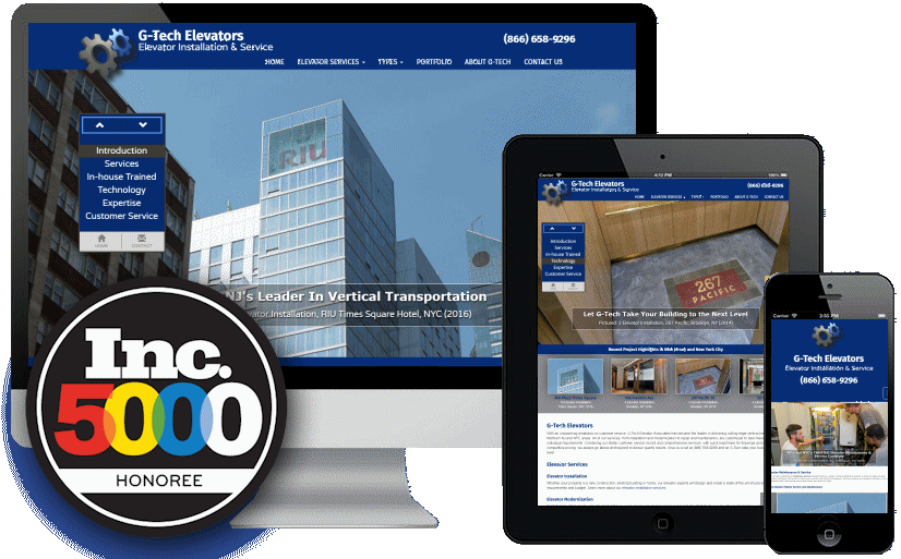 Web Design for Inc Magazine's Fast Growing Companies