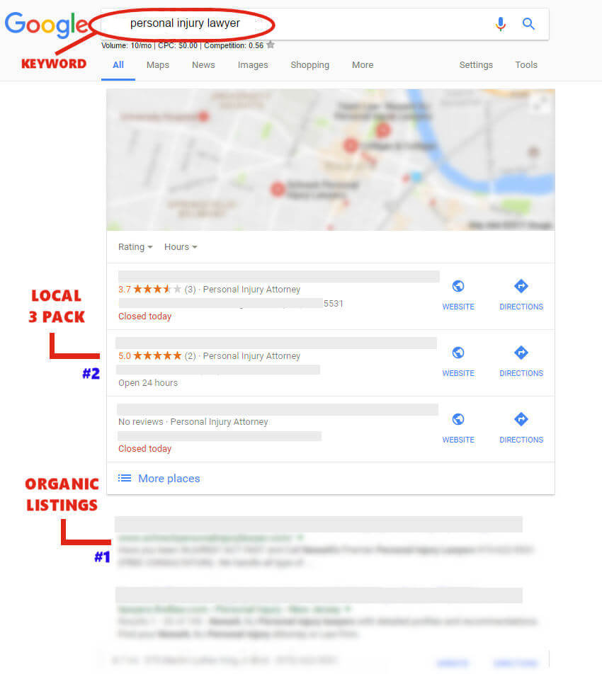 worldwideRiches lawyer client's SEO results!