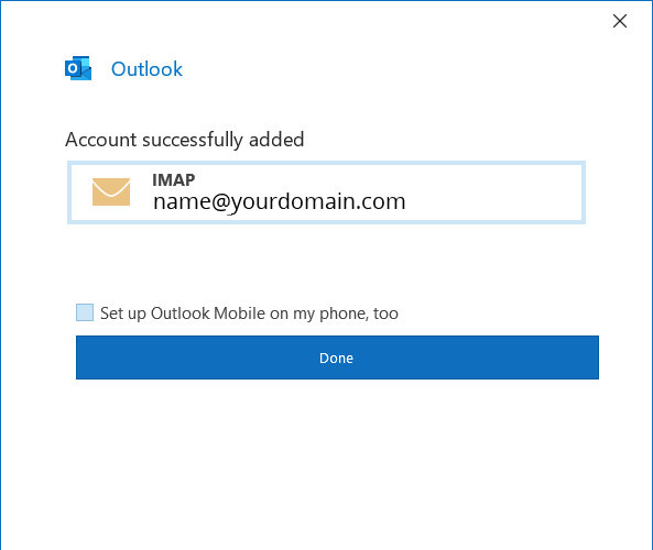 Outlook Setup 5